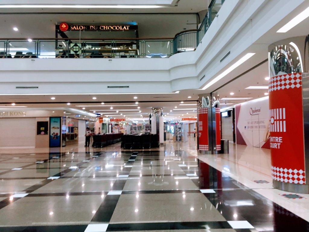 マレーシア、コロナ時のショッピングモール