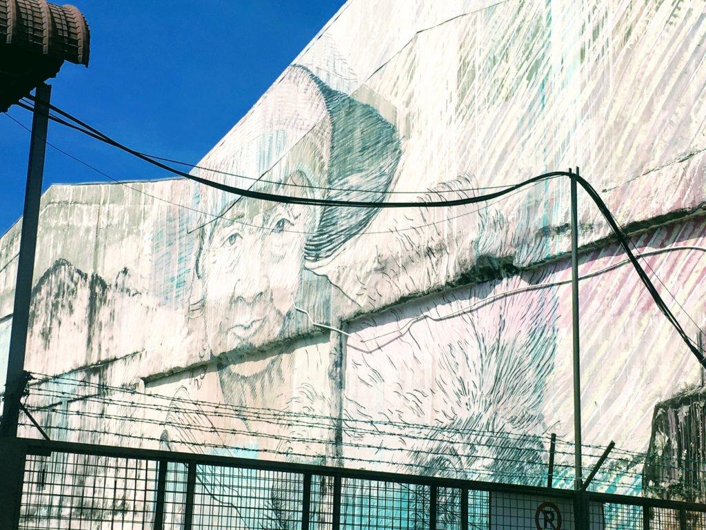 ペナンの有名な壁画
