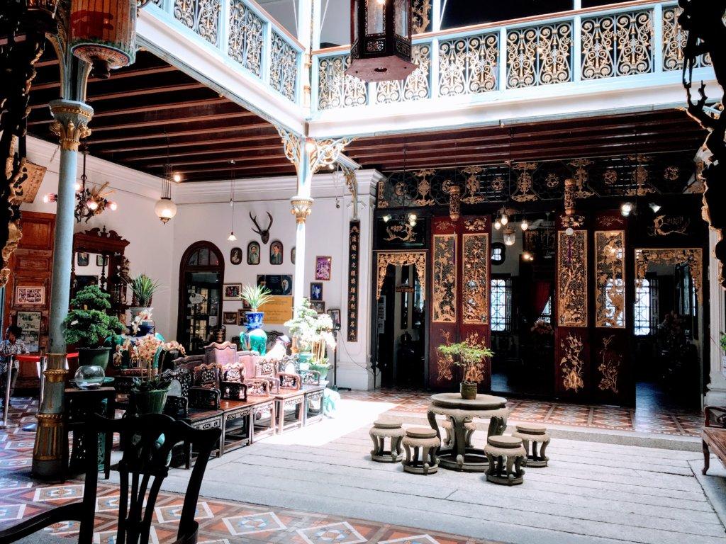 プラナカンマンションの中庭