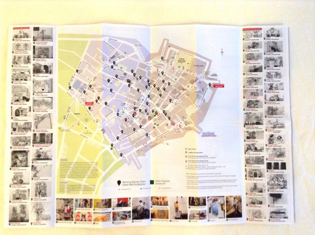 ペナンアートストリートの地図